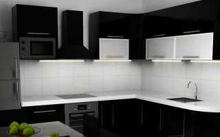 Обои для черно-белой кухни + фото
