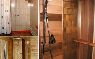 Душ в бане: отделка, дизайн, душевая кабина своими руками