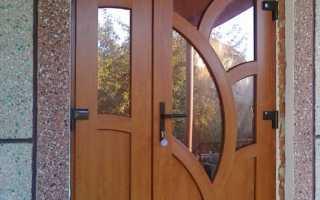 Входная пластиковая дверь для частного дома