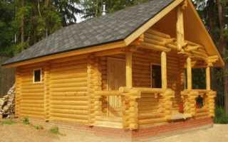 Как построить баню из бревна: проекты, этапы строительства