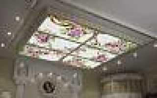 Витражный потолок с подсветкой, фото