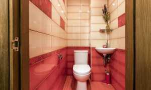 Отделка туалета плиткой + фото