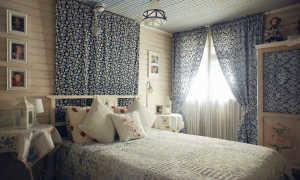 Спальня в деревенском стиле + фото
