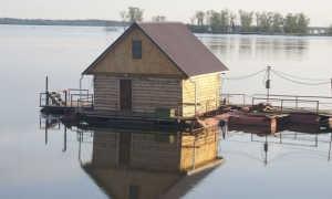 Баня на воде: на понтоне, на плоту, проекты, фото