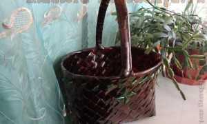 Плетение корзин из пластиковых бутылок + фото