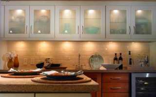Подсветка для кухни под шкафы: светильники, лампы под кухонные шкафы