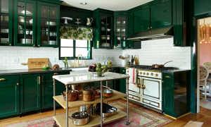 Кухня в зеленых тонах дизайн + фото