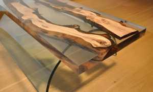 Столешница из эпоксидной смолы и дерева: изготовление, заливка, идеи для кухни