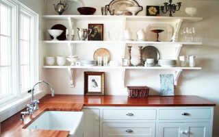 Кухня с полками вместо шкафов: оформление открытого дизайна интерьера