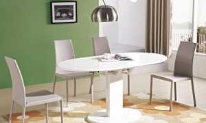 Стол на одной ножке для кухни: прямоугольные и круглые, на одной опоре