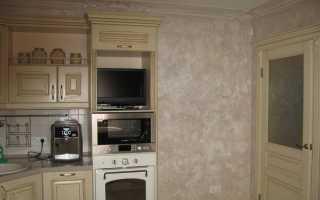 Декоративная штукатурка на кухне: венецианская или короед, какую выбрать