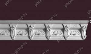 Гипсовый потолочный плинтус: лепнина с орнаментом