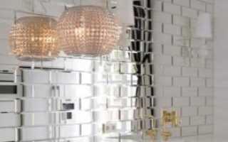 Зеркальный фартук для кухни: кухонная плитка из зеркала в интерьере