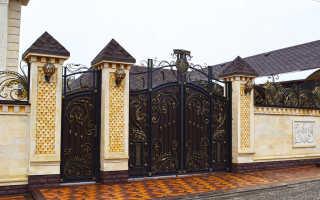 Красивые ворота частного дома
