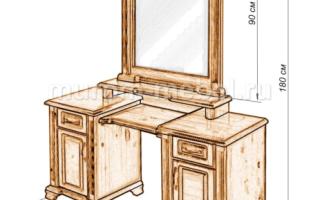Как сделать туалетный столик своими руками