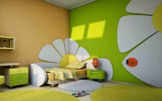 Краска для стен в детской комнате + фото