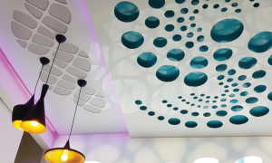 Натяжные потолки перфорированные, с подсветкой: фото