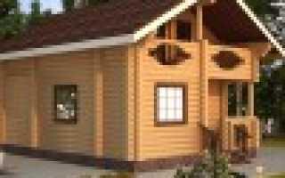 Проект дома из оцилиндрованного бревна с мансардой