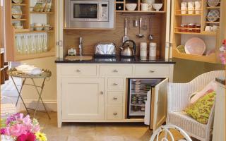 Маленькая кухня на даче: дизайн, фото