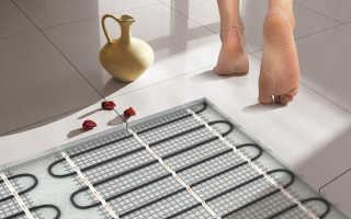 Теплый пол в душ