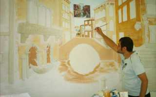Как выбрать краску для рисования на стенах