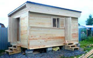 Односкатная крыша для бани своими руками: проекты, фото, видео