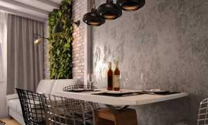 Декоративная штукатурка на кухне: виды для внутренней отделки, фото