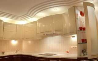 Потолок из гипсокартона на кухне: дизайн, как сделать своими руками