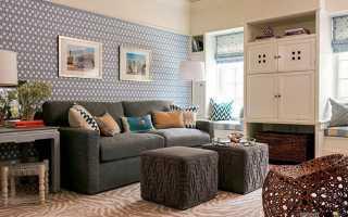 Цвет обоев для гостиной + фото