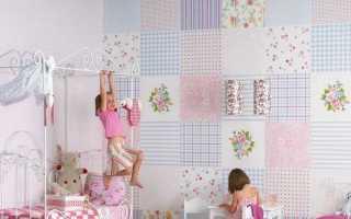 Комбинированные обои в детской комнате + фото
