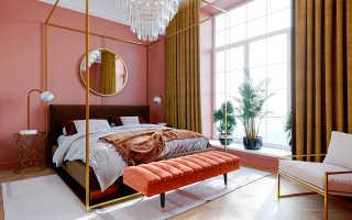 Розовые обои в интерьере + фото