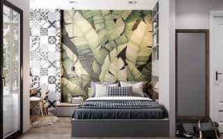 Комбинированные обои в спальне: фото дизайна