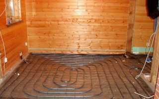 Теплый пол в бане: электрический, водяной, от банной печи