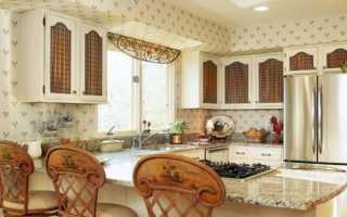 Обои в стиле Прованс для кухни: итальянские обои Прованс в интерьере кухни