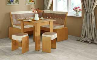 Кухонный уголок из массива дерева: преимущества уголков из натуральной сосны и дуба