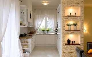 Кухни с нишей в стене + фото