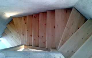 Лестница из половой доски