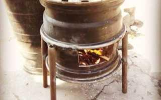 Печь для бани из дисков