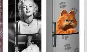 Как обклеить холодильник пленкой: как создать красивый декор самоклейкой